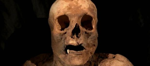 The mummified remains of a woman who died in Basel in the 16th C. have now been identified. [Image credit: ZEVO NEWS/YouTube]