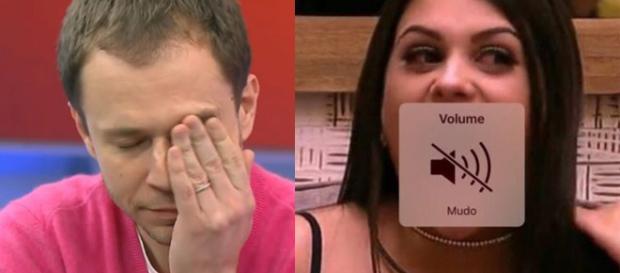 Tiago Leifert precisou pedir silêncio várias vezes ( Reprodução - Globo )