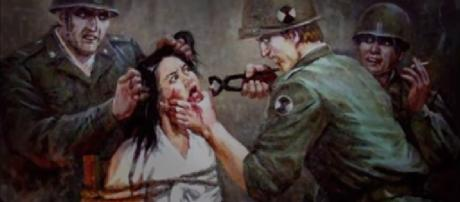 Massacre de Sinchon foi realizado por soldados dos EUA quando ocupavam a Coreia do Norte, em 1950. Foto: Museu de Sinchon