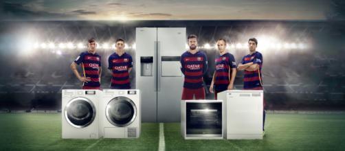 En el Kit de formación del Barcelona se mostrara la marca Beko
