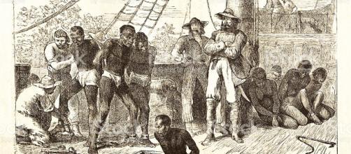 Negro Esclavos Carga En Barco 1881 Illustracion Libre de Derechos ... - istockphoto.com