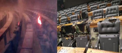 Princípio de incêndio atinge plenário da Câmara dos Deputados. (Foto Reprodução).