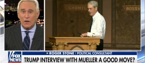 Roger Stone (left) comments on the Russia Probe, led by Special Counsel Robert S. Mueller III (right) [Fox News/YouTube screencap]