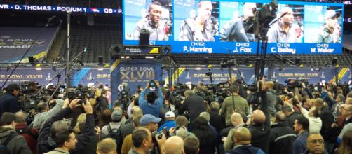 Super Bowl Media Day draws more attention than the game itself! [Image NFL.com/YouTube]