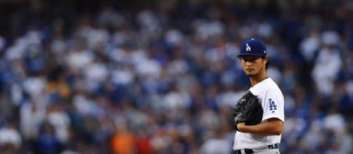 Yu Darvish on the mound. [image source: Wochit News/YouTube screengrab]