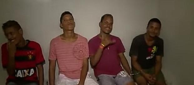 Quatro elemento foram presos no motel (Captura de vídeo)