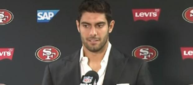 The Patriots traded Jimmy Garoppolo to the 49ers for a 2018 second-round pick (Image Credit: CBS SF Bay Area/YouTube)