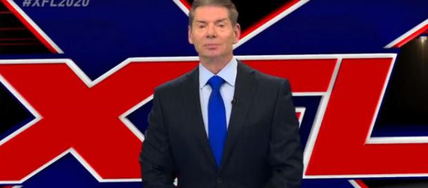 Vince McMahon is officially launching XFL 2.0 [Image via ESPN / YouTube screencap]