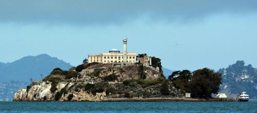 Alcatraz prison where three prisoners escaped 55 years ago and have never been found.[image via wikimedia commons/Don Ramey Logan]