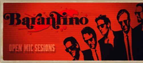 cartel de open mic en el antiguo Barantino