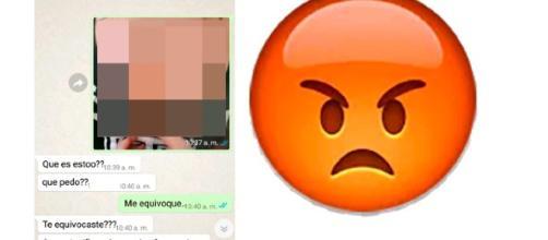 Conversación de Sandra y su novio en WhatsAPP