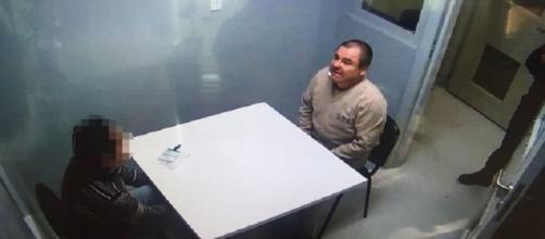 El chapo durante visita de um advogado na prisão