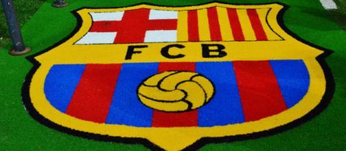 Logo du FC Barcelone, leader en Liga