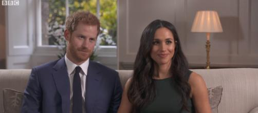 Prince Harry and Meghan Markle in interview with BBC News. [image source: BBC/YouTube screenshot]