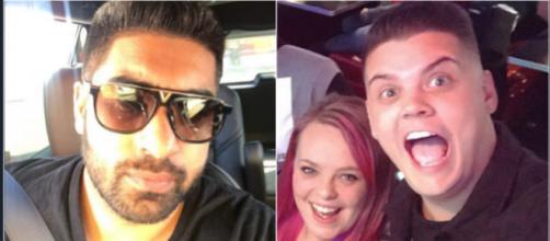 'Teen Mom OG' star Tyler Baltierra battles Simon Saran on Twitter. {Images via Simon Saran/Instagram and Tyler Baltierra/Instagram]