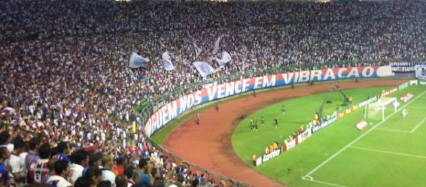 Bahia x Flu de Feira ao vivo neste sábado (27). (Futebol Reprodução).