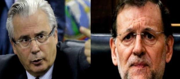 Baltasar Garzón y Mariano Rajoy en imagen