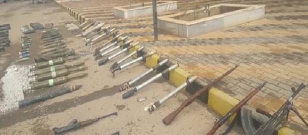 Exército sírio confiscou armas esta semana. (Foto Reprodução).
