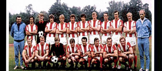 FC Bayern München Mannschaftskarte Anfang der 70er Jahre