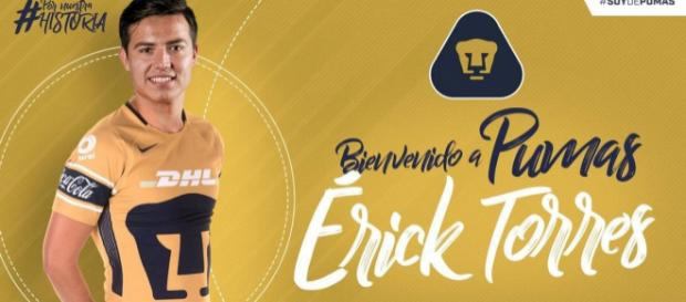 Llega Erick el 'Cubo Torres' a los Pumas.