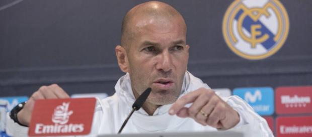Zidane en la conferencia de prensa.