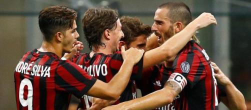 Esultanza Milan dopo un gol importante