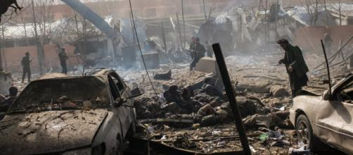 Kabul Terrorist Attack. - [Image @NYTimes/Twitter]