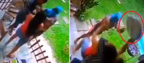 Mulher reage a tentativa de assalto. (Foto Reprodução).