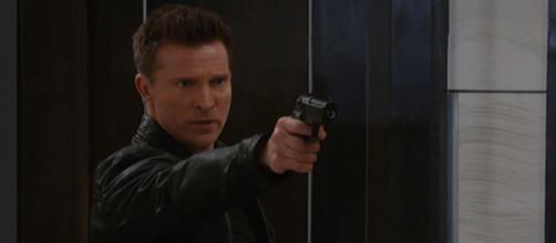 Steve Burton proves he is the one and only Stone Cold Jason Morgan. (Image via ABC go youtube screenshot).