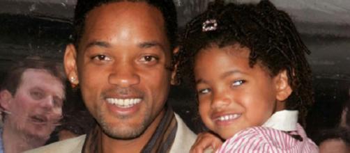 Will Smith com Willow, em criança