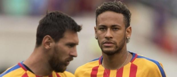 Leo Messi e Neymar juntos no Barcelona