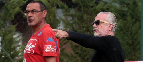 Napoli De Laurentiis e Sarri - radiogoal24.it