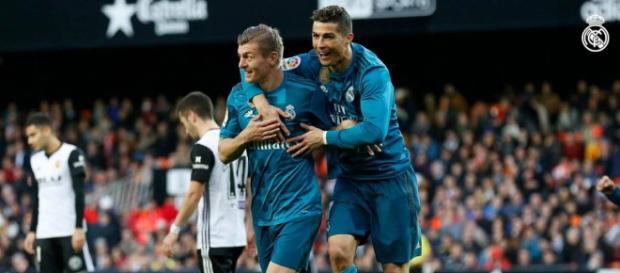 Cristiano Ronaldo anotó frente al Valencia