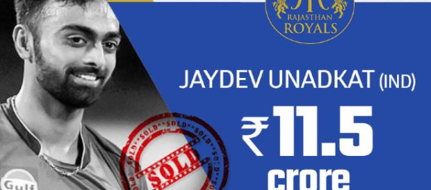 IPL Auction 2018: Expensive Buys: Jaydev Unadkat Mark ... (Image cia: News18/Youtube)
