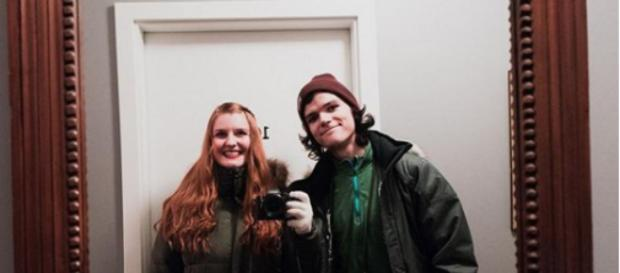 Jacob Roloff with his now fiance- Instagram