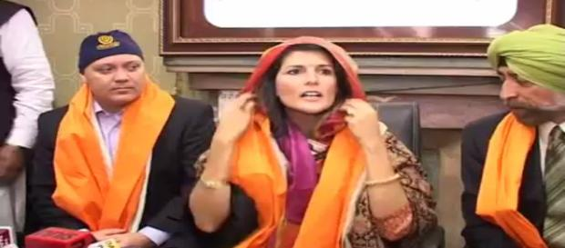 Nikey Haley at Golden Temple. Photo image credit (Youtube.com Sports quarter India)