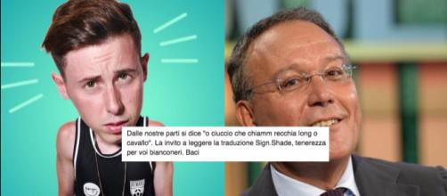 A sinistra Shade, a destra Enrico Varriale