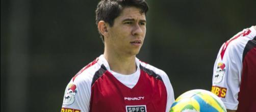 Osvaldo em um treinamento no CT da Barra Funda. (Foto Reprodução).