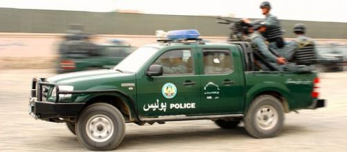 Afghan police on the move (Image credit - John R. Fischer, Wikimedia Commons)