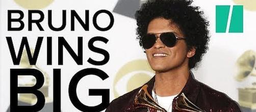 Bruno Mars wins big at the 2018 Grammy Awards. - [Image: HuffPost/YouTube screenshot]