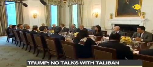 Trump has announced no talks withTaliban. Image credit (screenshot Youtube.com Wion news channel)