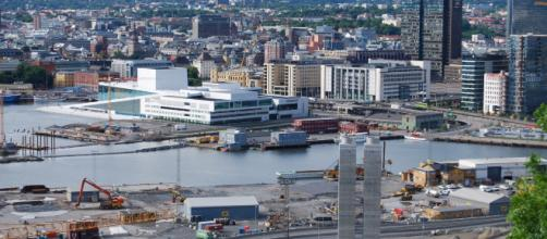 Vista de Oslo com a Casa da Ópera ao fundo