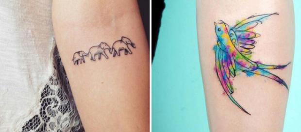 Descubra que tipo de tatuagem mais combina com você, de acordo com seu signo. Fotos: Reprodução.