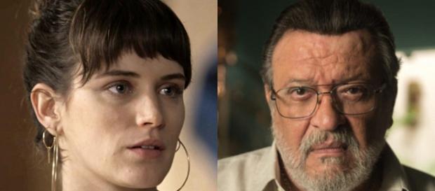 Imagem: Clara e Gustavo em cena de 'O Outro Lado do Paraíso'.