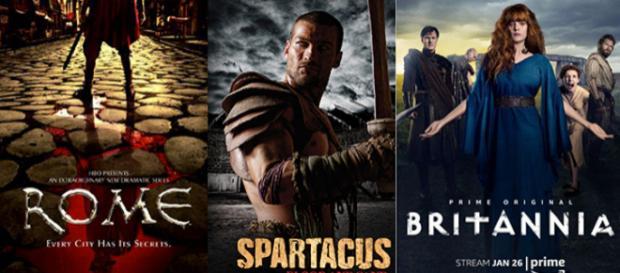 six séries télévisées tout droit sorties de l'Antiquité : Rome, Spartacus, Britannia