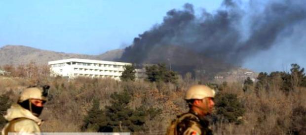 Taliban attack Hotel in Kabul. (Image Credit: Al Jazeera/Youtube screencap)