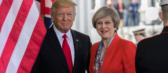 Donald Trump și Theresa May, o relație politică specială, la Davos