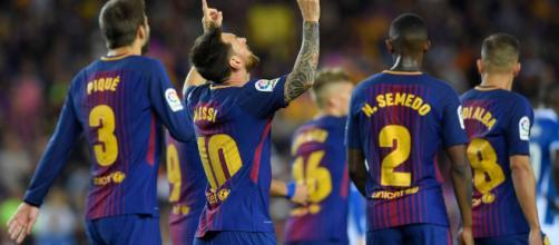 Messi esulta dopo un gol messo a segno