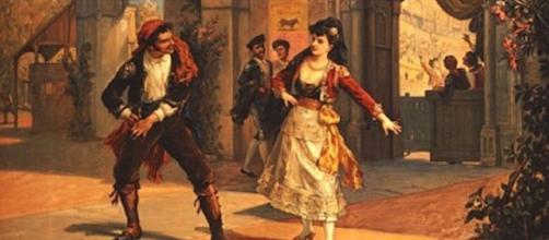 Ilustración de la Carmen de Prosper Mérimée y cómo ella se debatía ante el machismo de su tiempo.