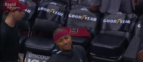 Isaiah Thomas plays his debut for Cavaliers against Trailblazers, Fans erupt.- image credit Rapid Highlights | YouTube